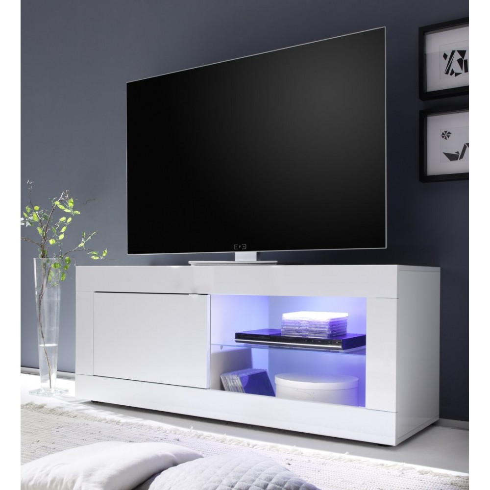 Meuble TV hi-Fi 1 porte/2 niches BERGAME