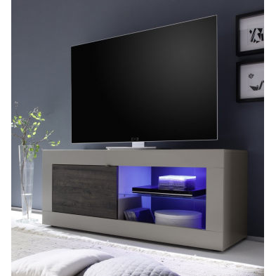 Meuble TV hi-Fi 1 porte/2 niches BERGAME 5