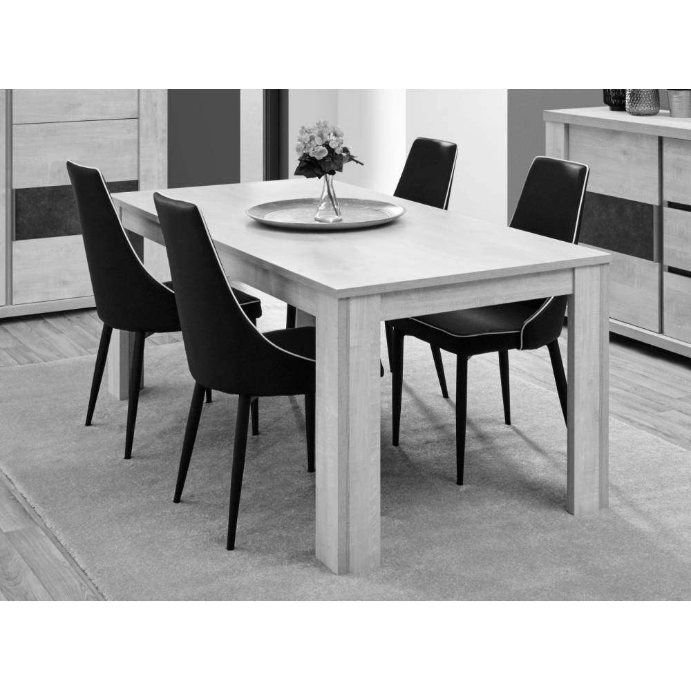 table de salle manger contemporaine city. Black Bedroom Furniture Sets. Home Design Ideas