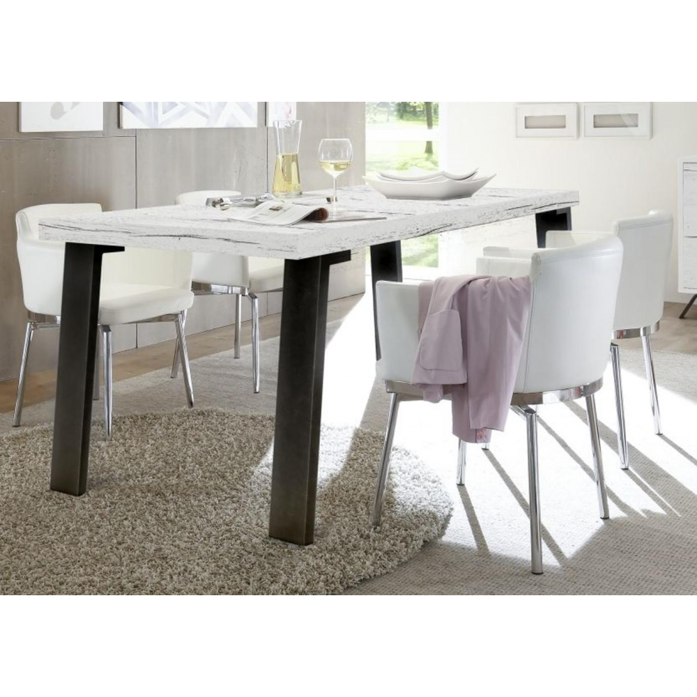 table de salle manger contemporaine avec pieds en m tal timba2. Black Bedroom Furniture Sets. Home Design Ideas