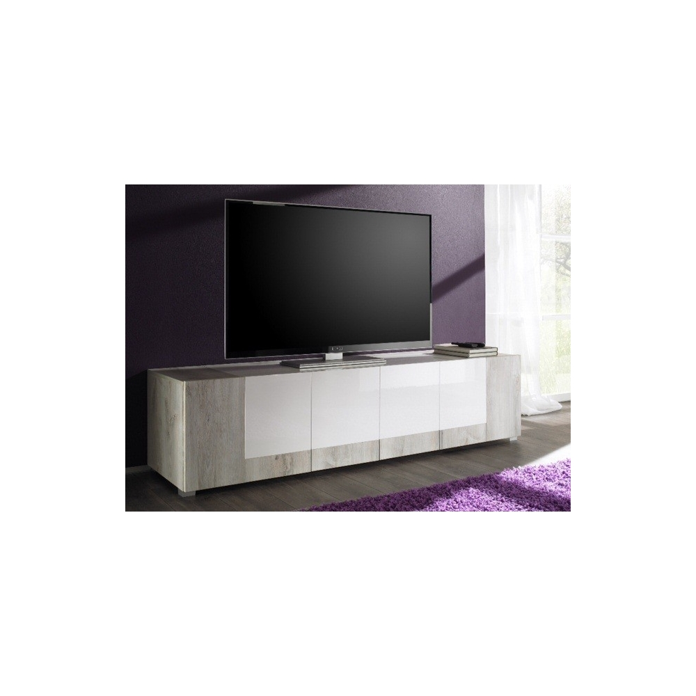 Meuble tv design marika meuble tv hifi vid o salon for Meuble hifi tv design