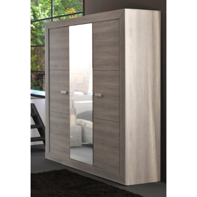 Armoire adulte 3 portes 200 cm VIRGINIA