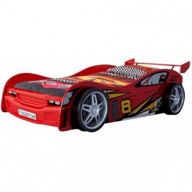 Lit voiture Night Racer rouge 90x200 cm