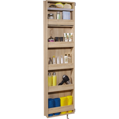 Armoire rotative GERMANIA 195 cm à 6 compartiments coloris chêne Sonoma