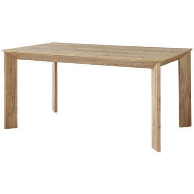 Table à manger rectangulaire DESIGN2 coloris chêne Navarra 160 cm