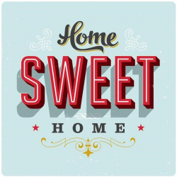 Tableau Home Sweet Home 90 x 90 cm YOUNIQ