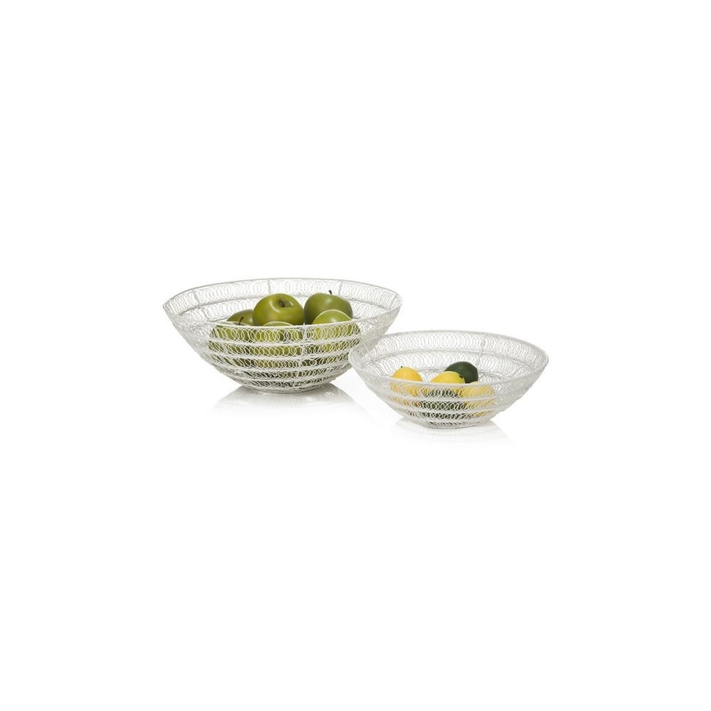 Lot de 2 coupes de fruits Wire : 40 x 14 cm et 30 x 9 cm YOUNIQ