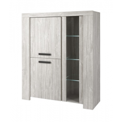 Vitrine-Argentier contemporain 140 cm RABBI 1