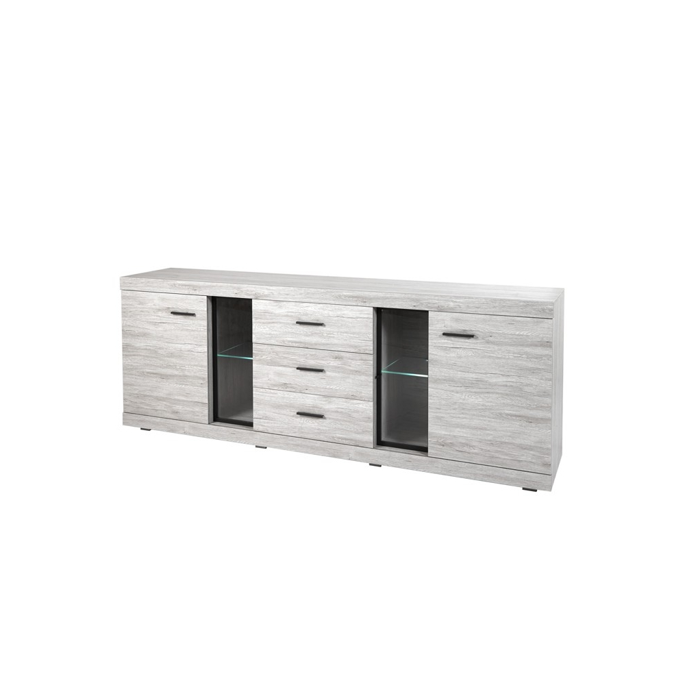 buffet bahut contemporain 243 cm thomas. Black Bedroom Furniture Sets. Home Design Ideas