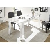 Table à allonge VENEZIA BLANC 137(+48)/90 cm