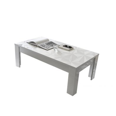 Table basse VENEZIA BLANC 122/65 cm