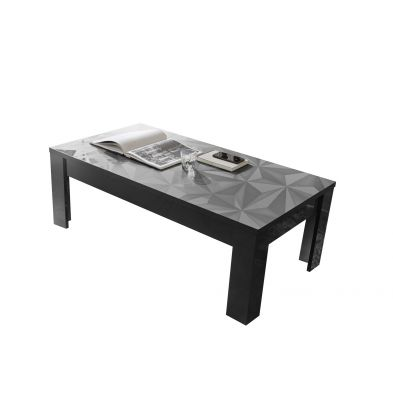 Table basse VENEZIA GRIS 122/65 cm