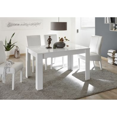 Table CARO BLANC 180/90 cm