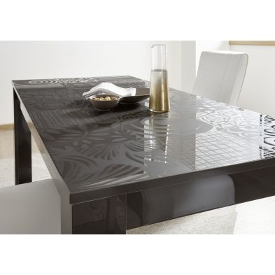 Table basse CARO GRIS 122/65 cm