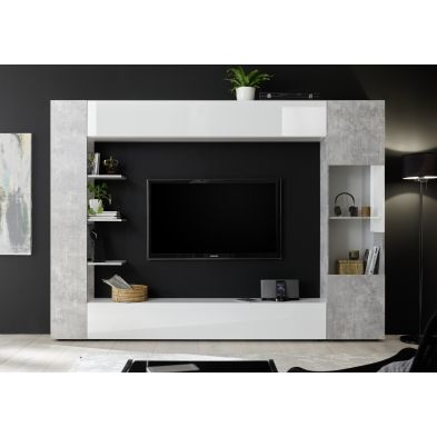 Ensemble meuble TV design SIROCCO 257 x 187 cm