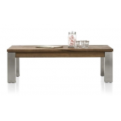 Masters, table de basse 120 x 70 cm - inox 9x9