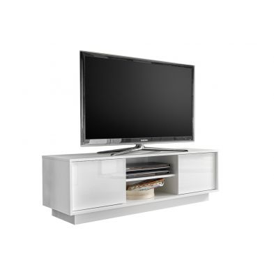 Meuble TV 139 cm Rocket White en blanc brillant